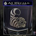Cheshire Cat D2 Decal Sticker Carbon FIber Chrome Vinyl 120x120