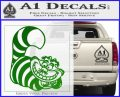 Cheshire Cat D2 Decal Sticker Green Vinyl Logo 120x97