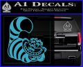 Cheshire Cat D2 Decal Sticker Light Blue Vinyl 120x97