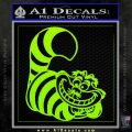 Cheshire Cat D2 Decal Sticker Lime Green Vinyl 120x120