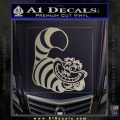 Cheshire Cat D2 Decal Sticker Metallic Silver Emblem 120x120