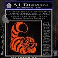 Cheshire Cat D2 Decal Sticker Orange Emblem 120x120