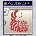 Cheshire Cat D2 Decal Sticker Red 120x120