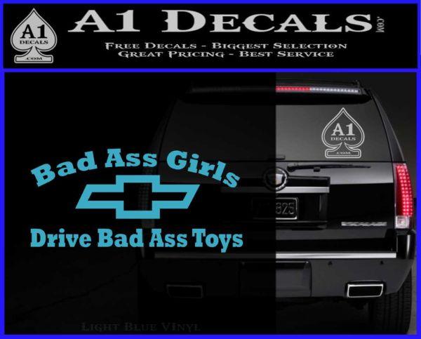 Chevy Badass Girls Decal Sticker D2 187 A1 Decals