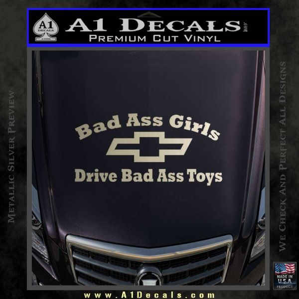 Chevy Badass Girls Decal Sticker D  A Decals - Badass decals for trucks