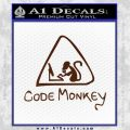 Code Monkey Css Java Html D1 Decal Sticker BROWN Vinyl 120x120