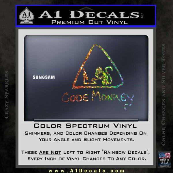 Code Monkey CSS Java HTML D1 Decal Sticker » A1 Decals