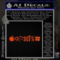Coexist Decal Sticker Operating Systems Orange Emblem 120x120