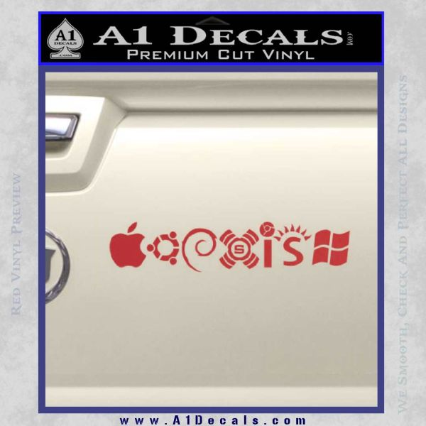 Coexist Decal Sticker Operating Systems A1 Decals