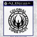 Colonial Viper Pilot D1 Decal Sticker Battlestar Galactica 21 120x120