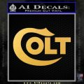 Colt Firearms Decal Sticker Gold Vinyl 120x120