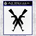 Crossed Ak 47s D1 Decal Sticker Black Vinyl 120x120