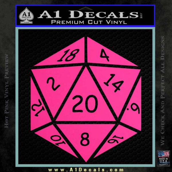 D20 Die Decal Sticker D Amp D Dungeons And Dragons 187 A1 Decals