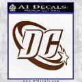 DC Comics Logo Decal Sticker BROWN Vinyl 120x120