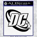 DC Comics Logo Decal Sticker Black Vinyl 120x120