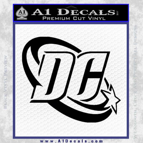 Dc comics logo decal sticker black vinyl