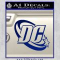 DC Comics Logo Decal Sticker Blue Vinyl 120x120