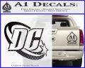 DC Comics Logo Decal Sticker Carbon FIber Black Vinyl 120x97