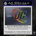 DC Comics Logo Decal Sticker Glitter Sparkle 120x120