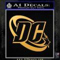DC Comics Logo Decal Sticker Gold Vinyl 120x120