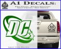 DC Comics Logo Decal Sticker Green Vinyl Logo 120x97