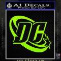 DC Comics Logo Decal Sticker Lime Green Vinyl 120x120