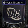 DC Comics Logo Decal Sticker Metallic Silver Emblem 120x120