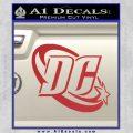 DC Comics Logo Decal Sticker Red 120x120