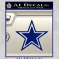 Dallas Cowboys Decal Sticker STAR Blue Vinyl 120x120