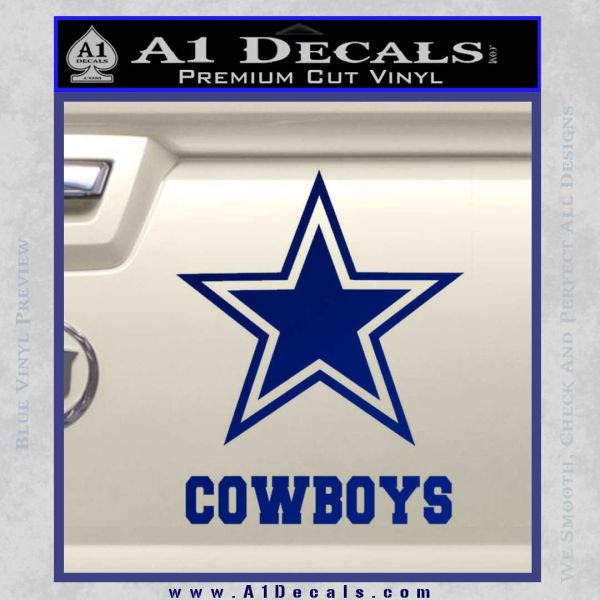 Dallas Cowboys Text Decal Sticker A1 Decals
