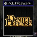 Daniel Defense D2 Decal Sticker Gold Vinyl 120x120