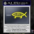 Darwin Jesus Fish Decal Sticker Yellow Laptop 120x120