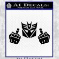 Decepticon The Fingers Decal Sticker Black Vinyl 120x120