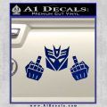 Decepticon The Fingers Decal Sticker Blue Vinyl 120x120