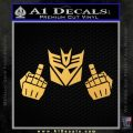 Decepticon The Fingers Decal Sticker Gold Vinyl 120x120