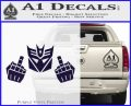 Decepticon The Fingers Decal Sticker PurpleEmblem Logo 120x97