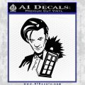 Doctor Who and TARDIS Splash Decal Sticker Black Vinyl 120x120