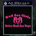 Dodge Bad Ass Girls Decal Sticker V2 Pink Hot Vinyl 120x120