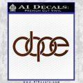 Dope Audi D2 Decal Sticker BROWN Vinyl 120x120