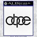 Dope Audi D2 Decal Sticker Black Vinyl 120x120