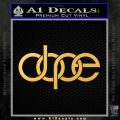 Dope Audi D2 Decal Sticker Gold Vinyl 120x120