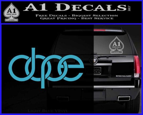Dope Audi D2 Decal Sticker Light Blue Vinyl