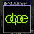 Dope Audi D2 Decal Sticker Lime Green Vinyl 120x120