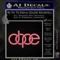 Dope Audi D2 Decal Sticker Pink Emblem 120x120