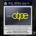 Dope Audi D2 Decal Sticker Yellow Laptop 120x120