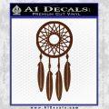 Dream Catcher D2 Decal Sticker BROWN Vinyl 120x120