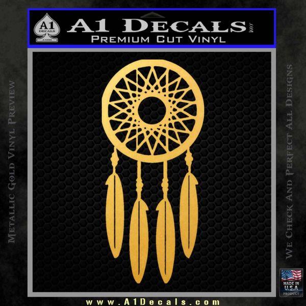 Dream Catcher D2 Decal Sticker Gold Vinyl