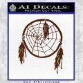 Dream Catcher Decal Sticker BROWN Vinyl 120x120