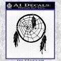 Dream Catcher Decal Sticker Black Vinyl 120x120