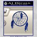 Dream Catcher Decal Sticker Blue Vinyl 120x120